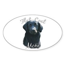 Flat-Coat Mom2 Oval Decal