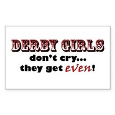 Derby Girls Don't Cry... Rectangle Decal