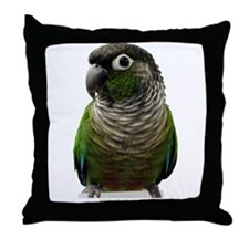 Green-Cheek Conure Throw Pillow
