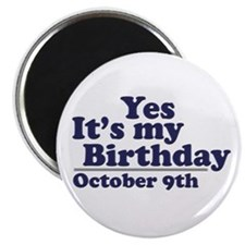 "October 9th Birthday 2.25"" Magnet (100 pack)"