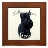 Schnauzer Mom2 Framed Tile