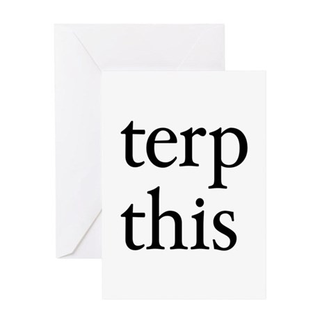 Terp This Greeting Card