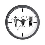 Petroglyph Peoples II Wall Clock