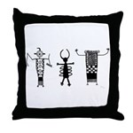 Petroglyph Peoples II Throw Pillow