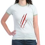 Clawed to Death Jr. Ringer T-Shirt