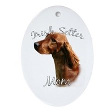Irish Setter Mom2 Oval Ornament