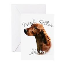 Irish Setter Mom2 Greeting Cards (Pk of 10)