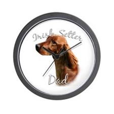 Irish Setter Dad2 Wall Clock