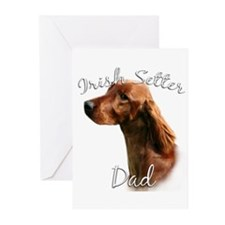 Irish Setter Dad2 Greeting Cards (Pk of 10)