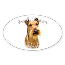 Irish Terrier Dad2 Oval Decal