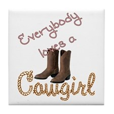 Loves Cowgirl Tile Coaster