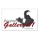 Jazz from Gallery 41 Logo Var Sticker (Rectangular