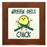 Green Belt Chick Framed Tile