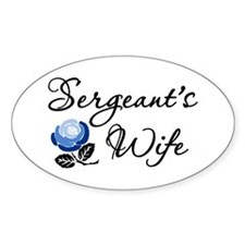 Sergeant's Wife Oval Decal