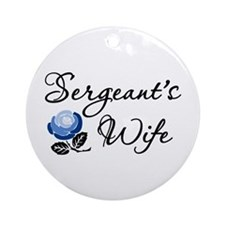 Sergeant's Wife Ornament (Round)