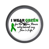 I Wear Green 2 (Saved My Son's Life) Wall Clock