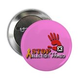 "Red Hand Stop Election Fraud 2.25"" Button"