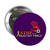 "Red Hand Stop Election Fraud Plum 2.25"" Button"