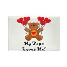 My Papa Loves Me! Rectangle Magnet (100 pack)