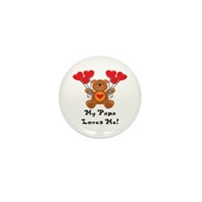 My Papa Loves Me! Mini Button (10 pack)