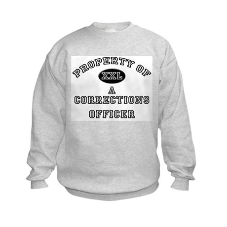 Property of a Corrections Officer Kids Sweatshirt