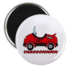 Red Race Car Magnet