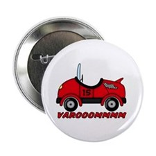 "Red Race Car 2.25"" Button (100 pack)"
