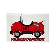 Red Race Car Rectangle Magnet