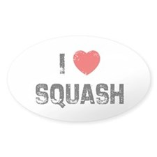 I * Squash Oval Decal