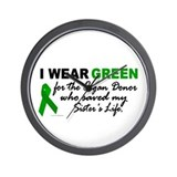 I Wear Green 2 (Saved My Sister's Life) Wall Clock