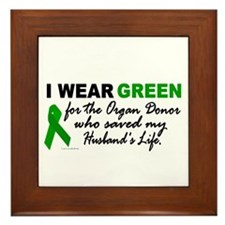 I Wear Green 2 (Saved My Husband's Life) Framed Ti