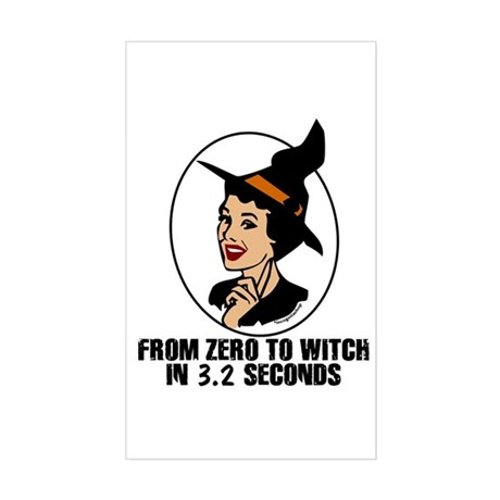 Zero to Witch Rectangle Sticker