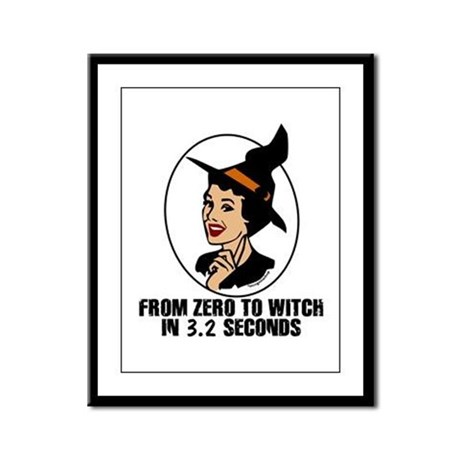 Zero to Witch Framed Panel Print