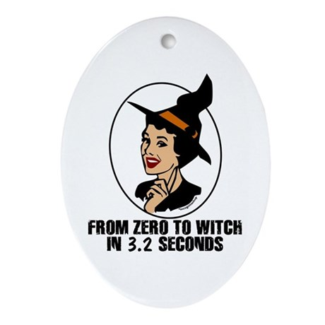Zero to Witch Oval Ornament