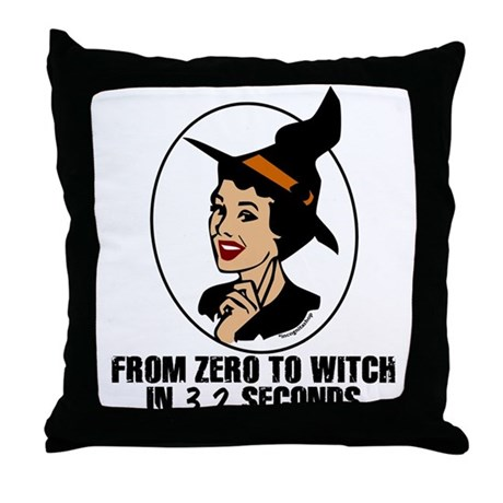 Zero to Witch Throw Pillow
