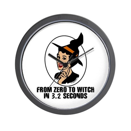 Zero to Witch Wall Clock