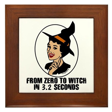 Zero to Witch Framed Tile