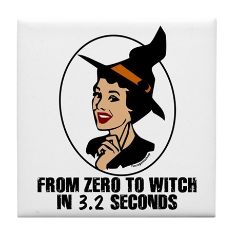 Zero to Witch Tile Coaster