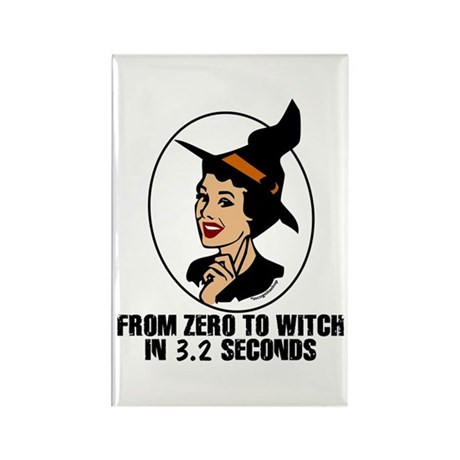 Zero to Witch Rectangle Magnet