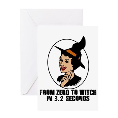 Zero to Witch Greeting Card