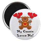 My Cousin Loves Me! 2.25&quot; Magnet (100 pack)