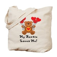 My Auntie Loves Me! Tote Bag
