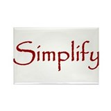 Simplify Rectangle Magnet (100 pack)