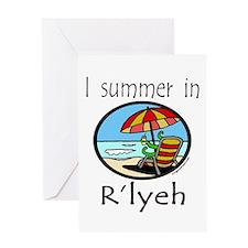 I summer in R'lyeh, cthulhu Greeting Card