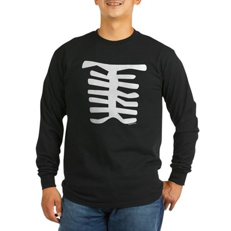 Skeleton Long Sleeve Dark T-Shirt