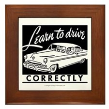 Learn To Drive Framed Tile