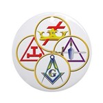 Masonic York Rite Circles Ornament (Round)