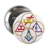 Masonic York Rite Circles 2.25&quot; Button (10 pack)