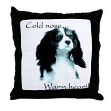 CKCS Warm Heart Throw Pillow