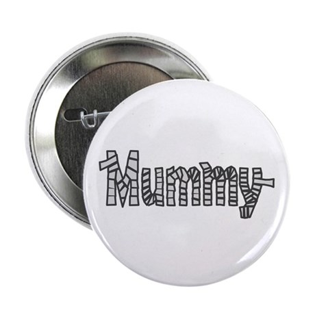 Mummy Halloween Button